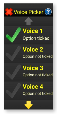 Image of the Voice Picker screen
