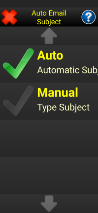 Image the Auto Email Subject menu option