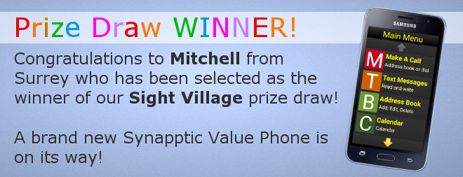 Sight Village Prize Draw WINNER!
