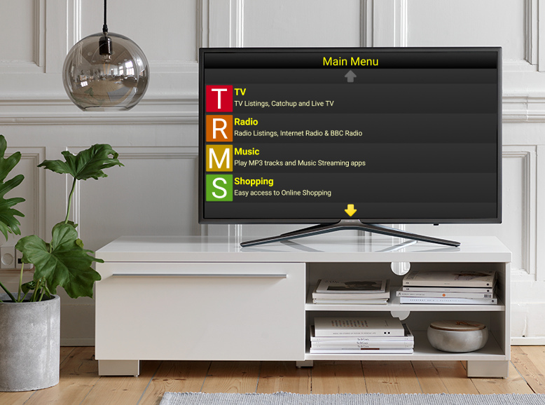 TV Box being used on a TV