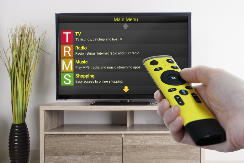 Image of Synapptic TV Box being used